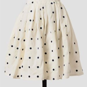 Modcloth polka dot skirt